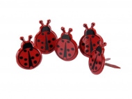 Брадсы Eyelet Outlet — Lady Bug, 12 шт