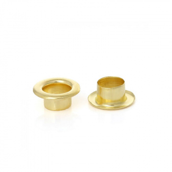 Люверсы Hobby and You - Eyelets Gold, 4,5 мм, 50 шт