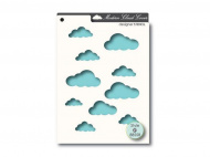 Трафарет Memory Box, Designer Stencil — Modern Cloud Cover, 16,8x12,1 см